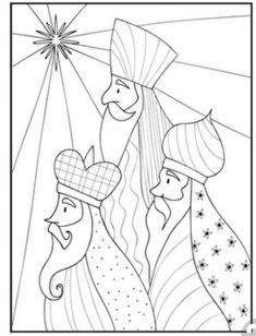 Have your child color this page of the three Magi as you tell him about Christmas. The three Magi used the stars as their navigation system. Christmas Nativity, Christmas Art, Christmas Projects, Holiday Crafts, Christmas Holidays, Christmas Ornaments, Christmas Drawing, Christmas Paintings, Three Wise Men