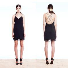 Black Slip Dress Black Dress 90s Dress by iheartnorwegianwood