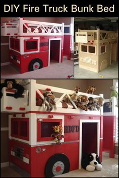 Kids Love Bunk Beds, But You Don't Have to Spend a Lot of Money to Make Them Happy Lots Of Money, Diy Bed, Baby Play, Extra Storage, Easy Diy Projects, Fire Trucks, Bunk Beds, Your Design, Toy Chest