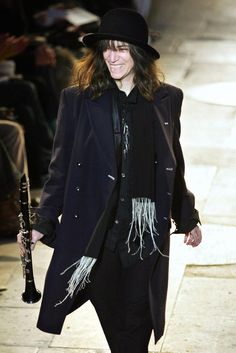 Patti Smith on the catwalk at Ann Demeulemeester, F/W 2007