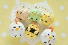 5 pcs Chick Onigiri / Rice balls Mascot Charm AZ246 by misssapporo