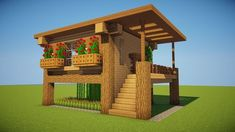 If you want to build a survival house that will change your minecraft experience forever, you need to watch this video! How to build a SURVIVAL HOUSE in Minecraft! Easy, Tiny and cute survival house that's efficient with a farm! Minecraft World, Modern Minecraft Houses, Minecraft House Plans, Minecraft Houses Survival, Minecraft House Tutorials, Minecraft Houses Blueprints, Minecraft Architecture, Minecraft Creations, Minecraft Designs