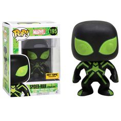 """Marvel Spider-man Stealth Suit Glow in The Dark (Hot Topic Exclusive): """"Big Time"""" Spider-Man is given a fun, and funky, stylized look as an adorable glow-in-the-dark collectible Pop! vinyl bobble-head from Funko! Funko Pop Spiderman, Funko Pop Avengers, Funko Pop Figures, Vinyl Figures, Stealth Suit, Dark Pop, Funko Pop Dolls, Otaku, Pop Toys"""