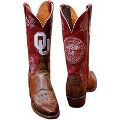 Oklahoma Sooners Women's Lucchese Boots - Crimson | Boomer Sooner ...