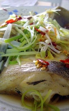 Chinese Steamed Halibut