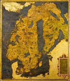 The Scandinavian Peninsula, Egnazio Danti, 1565, Room of the Maps, Italian cartography, XVI century  Zoom it on http://www.google.com/culturalinstitute/project/art-project?hl=it