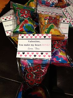 Valentine, You make my heart RING! Bag Toppers. $5.00, via Etsy.