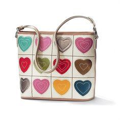 Brighton Art Heart Valentine Shoulderbag #VonMaur #Brighton #Handbags #Hearts