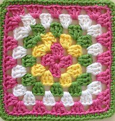 For Beginners Stitches bayan Crochet Crochet Bedspread Pattern, Crochet Mandala Pattern, Crochet Square Patterns, Crochet Blanket Patterns, Crochet Designs, Knitting Patterns, Crochet Flower Squares, Crochet Granny Square Afghan, Crochet Flowers