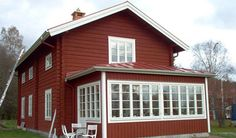 Slideshow House With Porch, This Old House, Exterior Paint Color Combinations, Red Houses, Swedish House, Scandinavian Interior, Country Style, Home And Living, Floor Plans