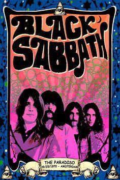 Vintage Concert Posters, Vintage Posters, Custom Posters, Black Sabbath Concert, Rock Vintage, Rock Band Posters, Pop Art, Tour Posters, Art Posters
