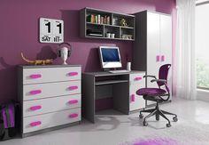 Office Desk, Corner Desk, Furniture, Home Decor, Pink, Homes, Corner Table, Desk Office, Decoration Home