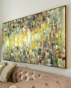 """""""Slickers"""" Abstract Painting at Horchow   hand painted oil on canvas by artist Jinlu   paintings may vary & not appear exactly like the one shown   86""""w x 2""""d x 39""""h   1,850.00"""