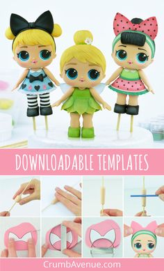 Many individuals don't think about going into company when they begin cake decorating. Many folks begin a house cake decorating com Cake Topper Tutorial, Fondant Tutorial, Easy Cake Decorating, Cake Decorating Tutorials, Lol Dolls, Cute Dolls, Lol Doll Cake, Wedding Cake Fresh Flowers, Fondant Toppers