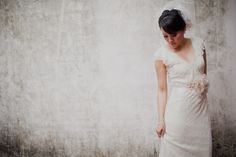modern looking bridal, monotone