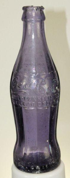 BRUNSWICK GA COCA COLA BOTTLE 1915 AMETHYST PURPLE