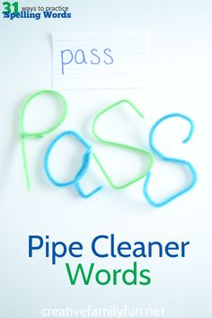 Pipe Cleaner Words