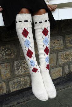 Argyle Socks. So cute!