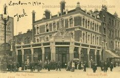 Nags Head at the junction of Holloway Road and Seven Sisters Road, Islington 1905 Vintage London, Old London, North London, Old Pictures, Old Photos, Finsbury Park, London History, London Pubs, London England