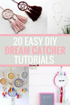 New Diy Dream Catcher Tutorial Easy Ideas Diy And Crafts Sewing, Easy Diy Crafts, Diy Arts And Crafts, Simple Crafts, Simple Diy, Diy Dream Catcher For Kids, Dream Catcher Craft, Making Dream Catchers, Dream Catcher Jewelry