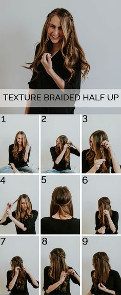A quick, simple, and beautiful bohemian braided half up hairstyle. This is so simple, easy, and quick!