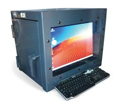 Small Desktop Computer Cabinet - This computer cabinet is designed for saving space. It features  sc 1 st  Pinterest & 13 best Computer Cabinets images on Pinterest | Armoire Cabinets ...