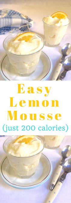 Lemon mousse made easy using store-bought lemon curd. Just 200 calories a serving.