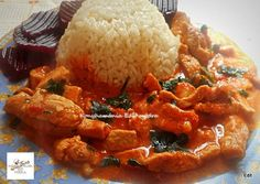 Erdélyi sertéstokány rizzsel Chicken Wings, Shrimp, Waffles, Pork, Lunch, Meat, Breakfast, Pork Roulade, Breakfast Cafe