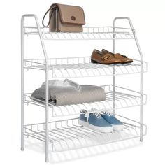Perfect for any room of your home, this Whitmor 4 Tier Closet Shelves adds instant storage. Its four spacious shelves give you ample space to store. Wire Storage Shelves, Closet Shelves, Hanging Storage, Closet Storage, Closet Organization, Storage Racks, Storage Systems, Pallet Shelves, Smart Storage