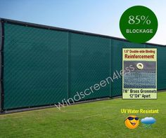 8'x50' Fence Screen Cover Mesh Windscreen Fabric Slat Privacy Yard Garden #Windscreen4less  To block the nosies from my festivities and to make my grandmother's community driveway backyard a more presentable look.