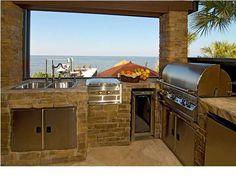 Outdoor kitchen appliances ideas.