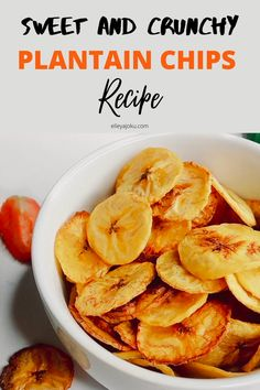 This plantain chips recipe is giving me trader joe's plantain chips vibes. Also, back plantain chips are healthier than fried plantain chips due to less oil Fried Plantain Recipe, Baked Plantain Chips, Baked Plantains, Plantain Recipes, Baked Chips, Easy Vegan Cake Recipe, Vegan Dessert Recipes, Fruit Recipes, Desert Recipes