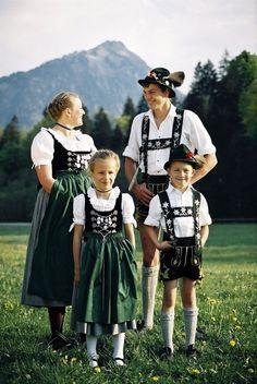 Traditional costumes of Oberstdorf, Bavaria, Germany