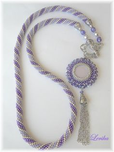 This Pin was discovered by Bev Rope Jewelry, Bead Jewellery, Seed Bead Jewelry, Jewelry Crafts, Bead Crochet Patterns, Bead Crochet Rope, Beaded Jewelry Patterns, Seed Bead Necklace, Beaded Necklace