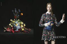 Les campagnes publicitaires de l'automne-hiver 2013-2014   valentino peinture vermeer Vogue