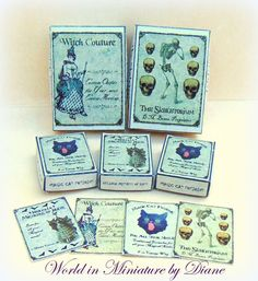 Puppenhaus Hexe Boxen Kit 01:12 Witchy Elemente, Wicca Zaubersprüche, Halloween