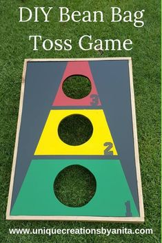 A simple bean bag toss game for all ages. Treatment Projects Care Design home decor Diy Bean Bag, Bean Bag Games, Kids Bean Bags, Bags Game, Outdoor Games For Kids, Outdoor Fun, Diy Games, Party Games, Outdoor Parties