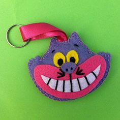 Mad Hatter Tea Party Ideas Mad Hatter Felt Keyring Patterns Cheshire Cat, Alice in Wonderland