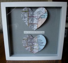 "Gifts for Him or Her:  Map Art ""Home is Wherever I'm with You"" @ Etsy  @Rachel Kaminky"