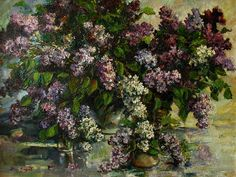 Lilacs Painting by Tigran Ghulyan - Lilacs Fine Art Prints and Posters for Sale