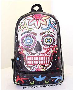 Szstudio The street Punk Skull Backpack Canvas Handbag Shoulder Bag | Best Street Style