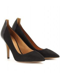Isabel Marant - PAIGE SUEDE AND LEATHER PUMPS - mytheresa.com