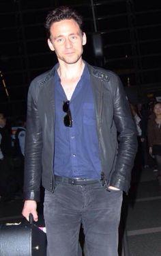 Tom Hiddleston at LAX on December 19, 2014