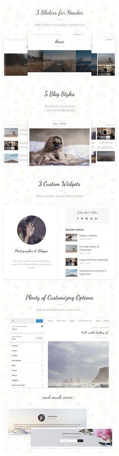 Anni – An Elegant & Effective WordPress Personal Theme by ThemeAB   ThemeForest
