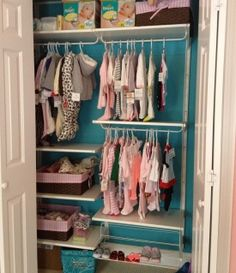 Hello - Here is my pic of the closet organizer that I installed in LO's nursery.  I ripped out the closet that was in there and hung this Ikea (algot) …