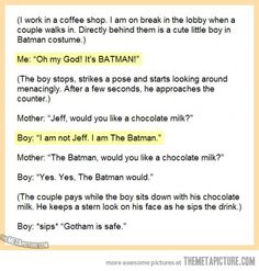 I Am The Batman…ADORABLE
