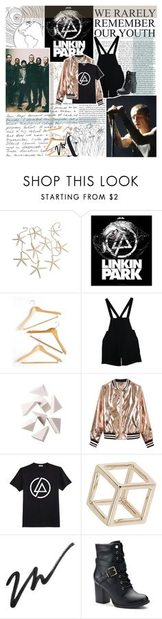 """""""do you feel cold and lost in desperation?"""" by heyhayhayxx ❤ liked on Polyvore featuring Honey-Can-Do, American Apparel, Bobbi Brown Cosmetics, Sans Souci, Topshop, Apt. 9, BloggerStyle, bands, LinkinPark and Inspiredbymusic"""