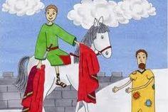 Výsledek obrázku pro sv. martin na bílém koni omalovánka