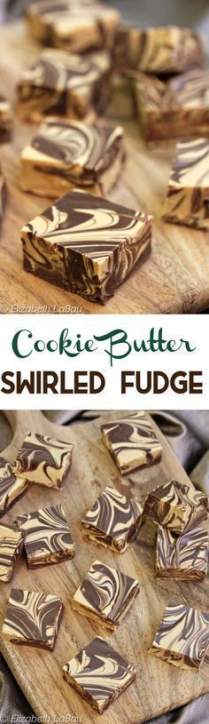 Cookie Butter Swirled Fudge - an easy, four-ingredient recipe made entirely in the microwave! It's simple, quick, gorgeous, and delicious! Fantastic Fudge Recipe, Delicious Fudge Recipe, Fudge Recipes, Candy Recipes, Sweet Recipes, Baking Recipes, Cookie Recipes, Delicious Desserts, Yummy Treats