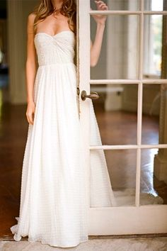 Simple is beautiful. I would just want to add a wider waist band or belt.